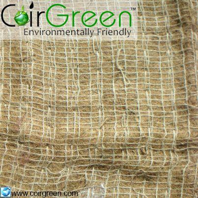 Coir Erosion Control Blanket or coir mat, used for Soil erosion contorl applications.   Visit www.coirgreen.com for more details