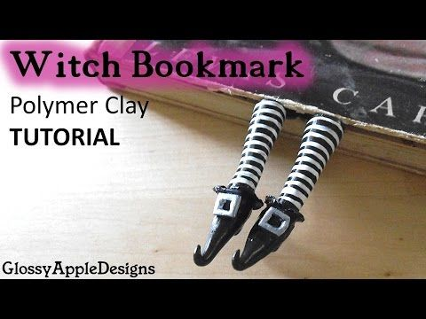 Polymer Clay Witch Shoes/Feet Bookmark TUTORIAL | Maive Ferrando - YouTube