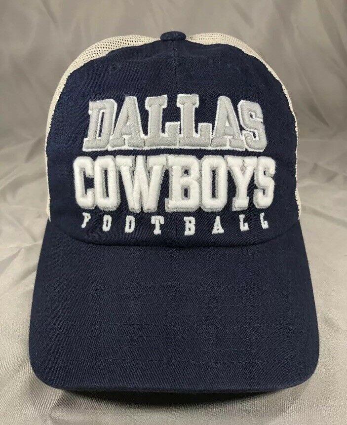 wholesale dealer 8cb2b 593ee NFL Dallas Cowboys Football Cap Hat Trucker Mesh Snapback New   eBay