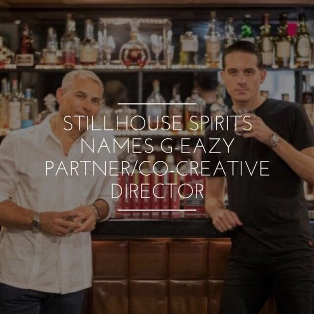 Stillhouse (@StillhouseUSA) has named rapper/producer Gerald G-Eazy Gillum (@g_eazy) as Partner and Co-Creative Director. G-Eazy and CEO Brad Beckerman share a mutual enthusiasm for Whiskey as well as creativity and the willingness to take risk. The two hope to take the brand to a new level and see continued growth for the Stillhouse brand.