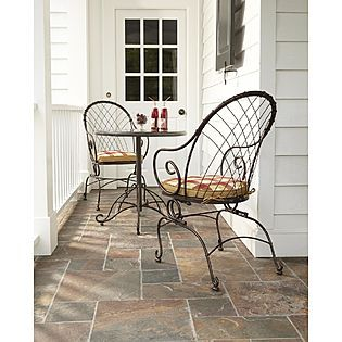 Country Living  Cherry Valley Bistro Motion Chairs   2pk