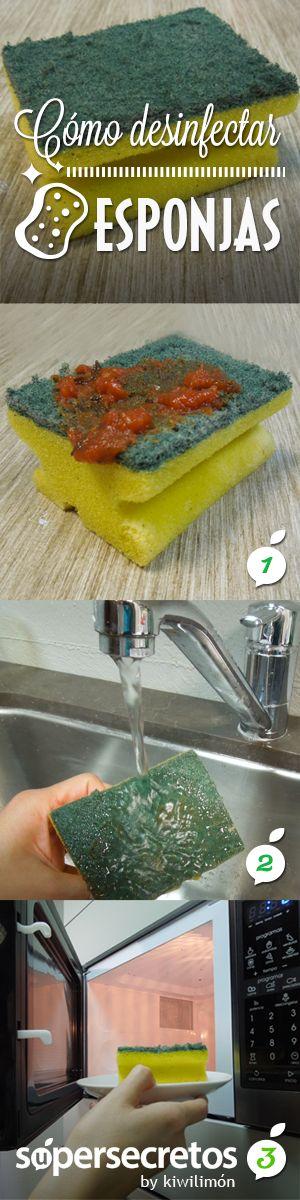 Cómo desinfectar esponjas y eliminar los gérmenes.