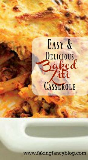 Oh the cheesy goodness of baked ziti is to die for! This quick and super easy casserole is comfort food at its best and a great addition to your weekly dinner menu!