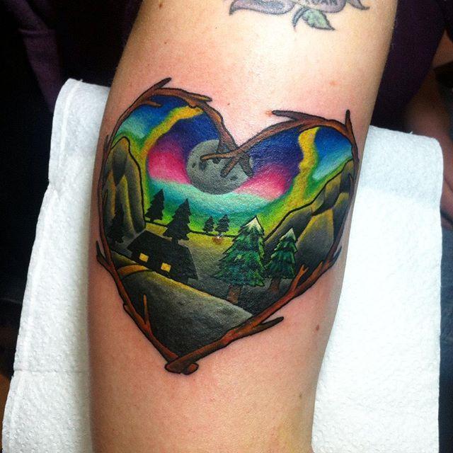 32 best aurora borealis tattoos images on pinterest
