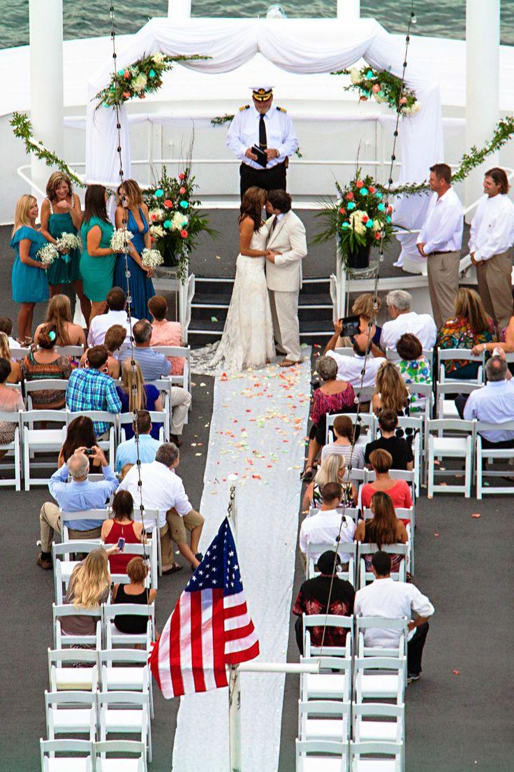 An Aerial View Of The Murrays Destin Wedding On SOLARIS Yachts Sky