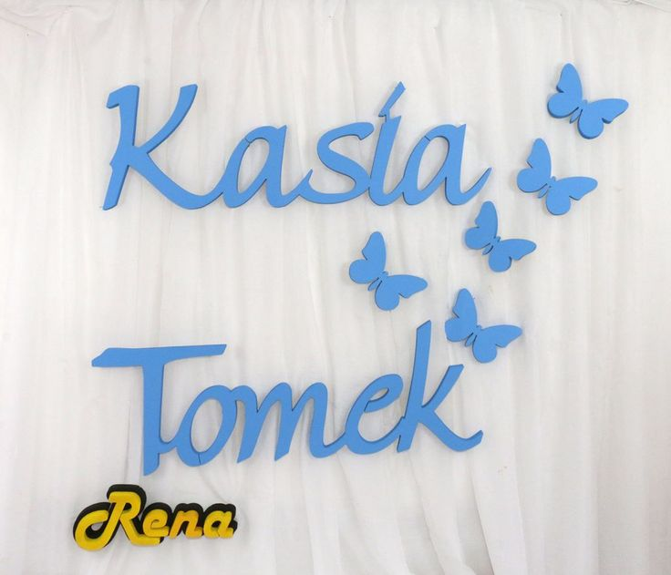 Imiona ślubne na ściankę  Nowożeńców  Kasia Tomek
