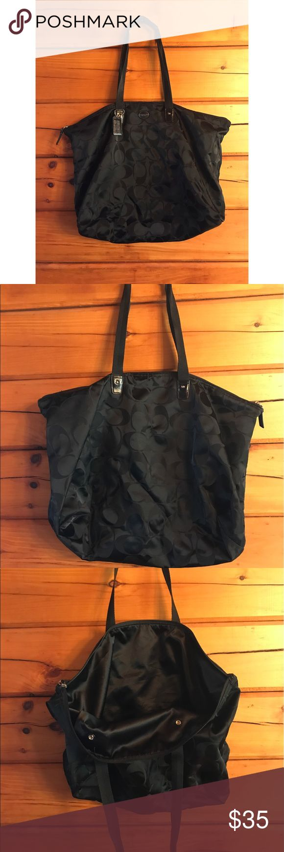 designer coach bags 8wi1  EUC Coach Travel Tote