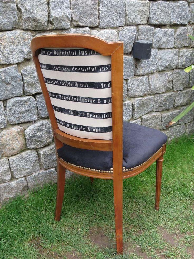 juego de 4 sillas antigua francesa luis xvi recicladas c/u