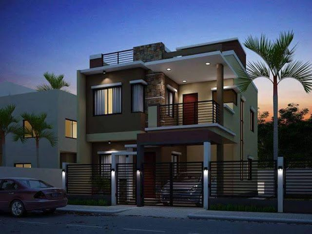 Two Floor Houses With 3rd Floor Serving As A Roof Deck 2 Storey House Design House Designs
