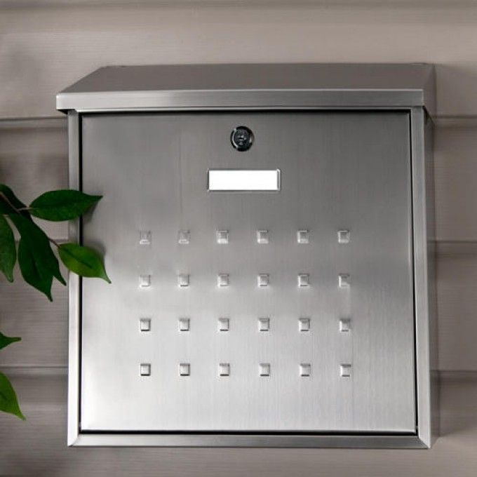 Premium Maxi Locking Wall-Mount Mailbox - Stainless Steel & 20 best House Mounted Mailboxes images on Pinterest | Wall mount ...