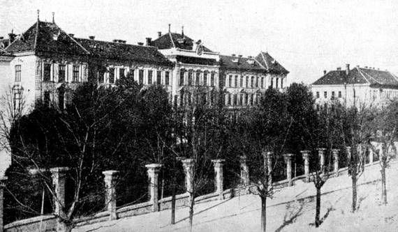 NYME Botanikus Kert: Régi képek a Botanikus Kertről A kert déli pereme a kari épületekkel (1948)