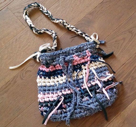 Bohemian purse crocheted purse Boho bag hippie by LasLomasHome