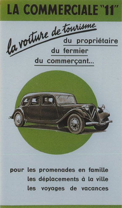 Citroën Traction Avant Technical Specifications