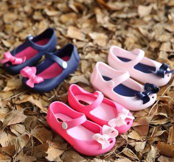 Mary Jane Peep Toe Bow Jelly Shoes
