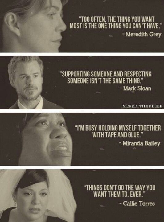Sad thing is they are all true. I can't believe Callie and Arizona.