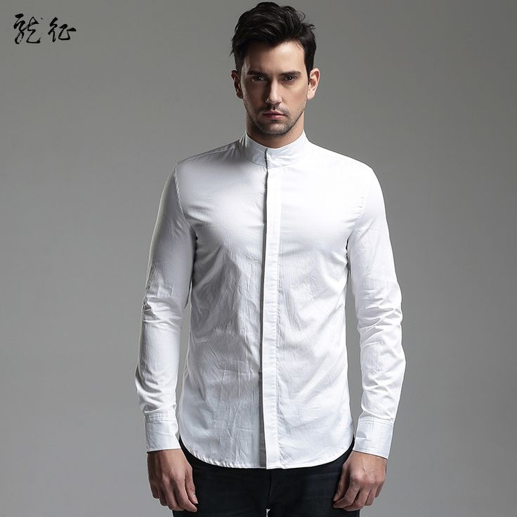 75 best images about chinese shirts blouses for men on for Hidden button down collar shirts