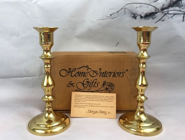 Home Interiors And Gifts Dessau Brass Candlesticks Vintage Collectibles Gift   Collectibles, Decorative Collectibles, Candles, Holders   eBay!