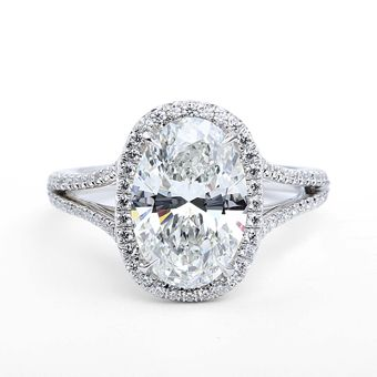 The Center of My Universe split shank oval ring set platinum with a 3.78 ctw stone, price upon request, Forevermark Photo: Courtesy of Forevermark