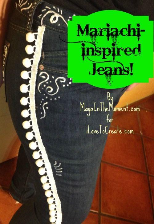iLoveToCreate Blog: CINCO CHIC: Mariachi-Inspired Jeans!