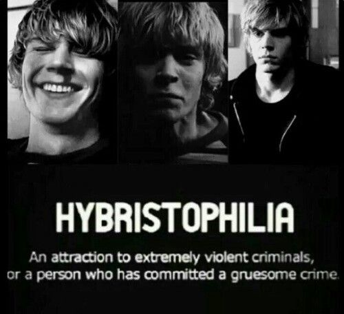 Tate Langdon // American Horror Story // Hybristophilia. I definitely have this....