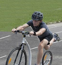 Rodger -Retired High School Phys. Ed. Teacher.  First Canadian Footbike Champion  - Age group 60 - 64