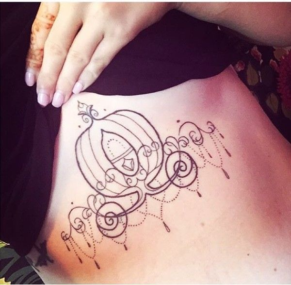 Princessy Carriage Tattoos : disney tattoo