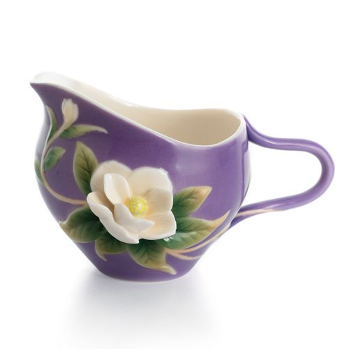 Franz Porcelain Collection Southern Charm   Magnolia Flower Creamer