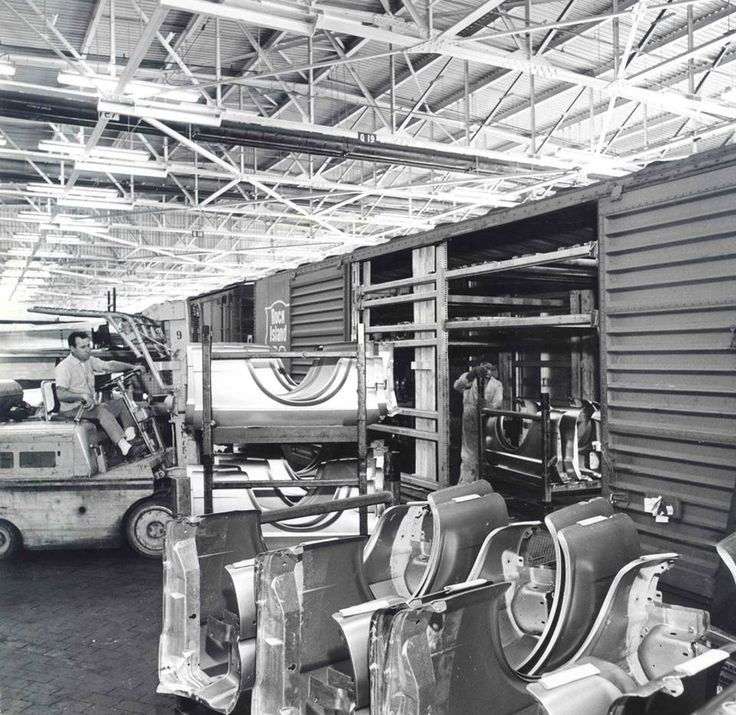 Mustang Assembly Line Unloading Fenders From Stamping