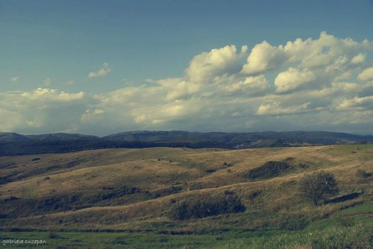 rural landscape from Maramures Region, Romania