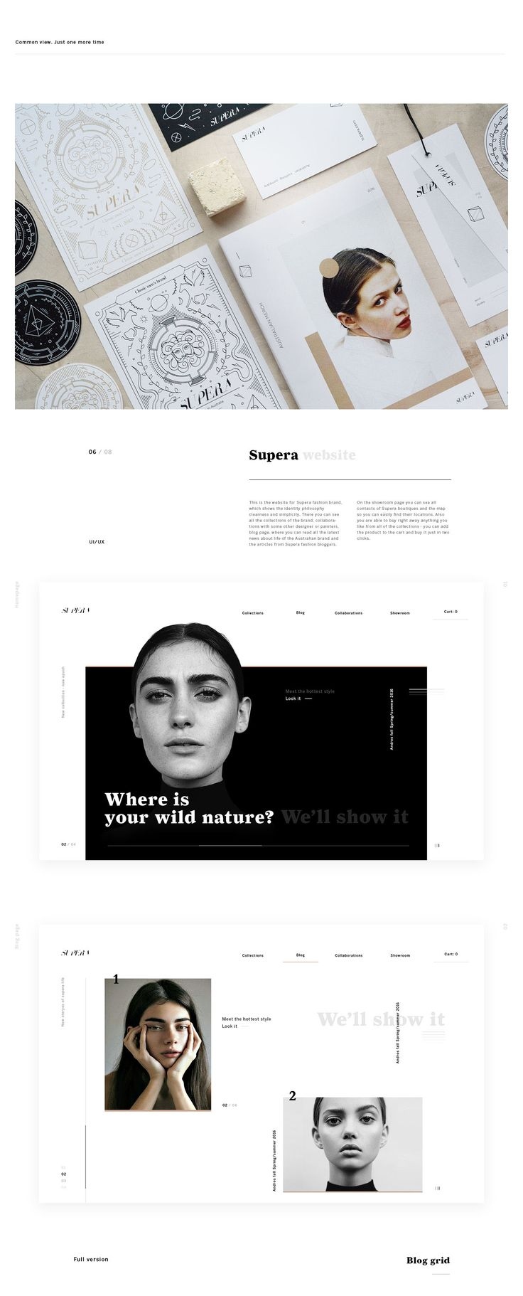 Supera is the new name in Australian fashion industry. In this project we created a story, which you are able to see on all the parts of the project: from visual identity to website and mobile application. A lot of clean space. Black & white basically is …