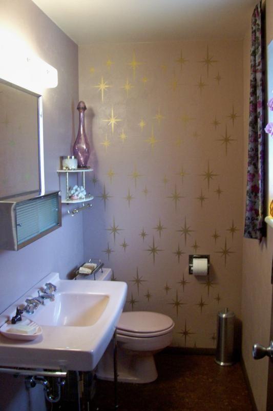 karen spends 708 to create a delightful pink bathroom