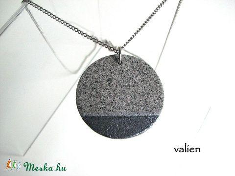 Antik ezüst műkő nyaklánc (valien) - Meska.hu