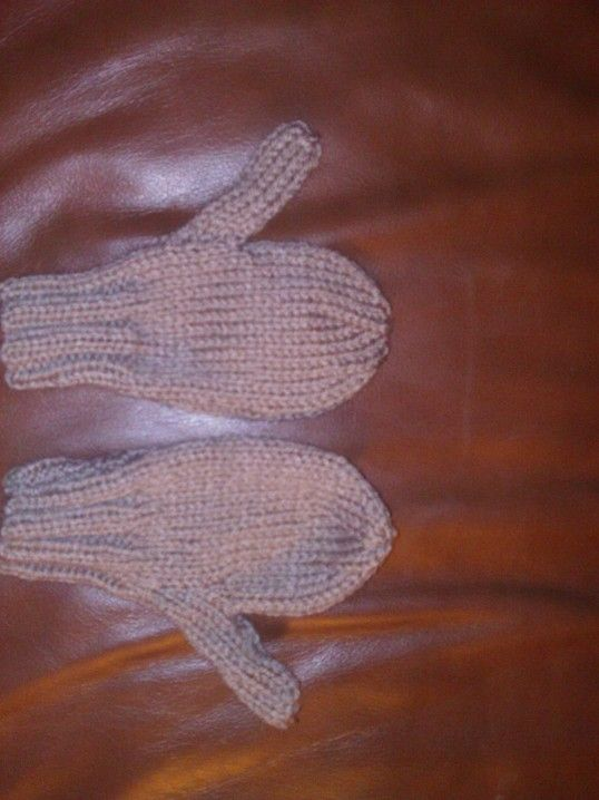 Mittens for Freddie to match his jacket.