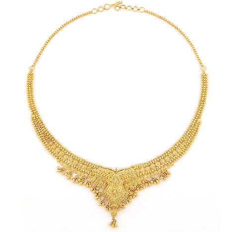 Shefali Wear Gold Necklace Jewellery Product, Gold Jewellery, Lucknow - tpjewellers.com