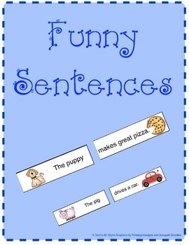 What better way to reinforce reading easy sight words and  CVC words then have the children put the subject and the predicate of a sentence togethe...