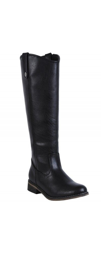 Lily Boutique Class Act Riding Boot in Black, $60 Black Riding Boots, Cute Black Boots, Fall Boots www.lilyboutique.com
