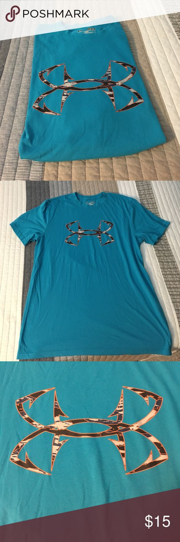 Blue under Armour fishing shirt Hardly worn. Great shape. Very soft Under Armour Shirts Tees - Short Sleeve