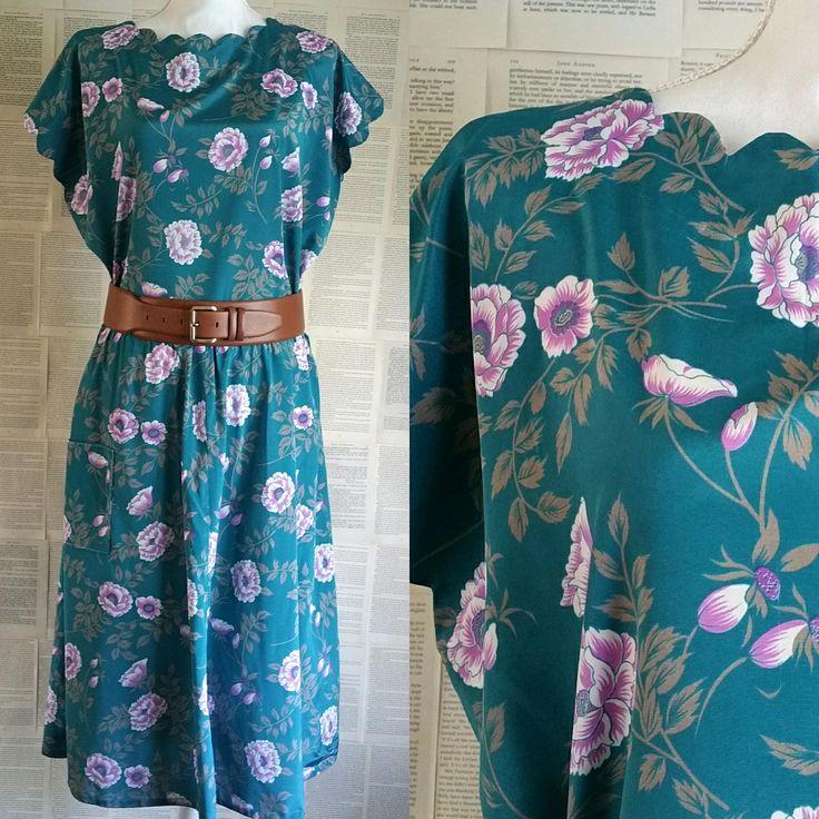 Floral Hand Made Vintage Dress - Plus Size 18-20 by MyVintageSundays on Etsy