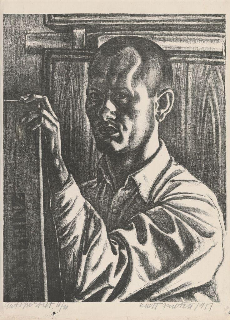 Ernest Zmeták (1919-2004). Self-portrait. 1951