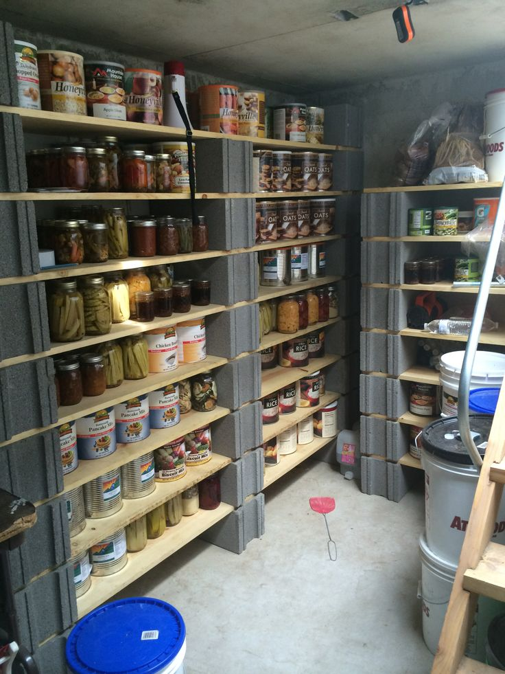 Part Of Our Underground Food Storage Food Storage