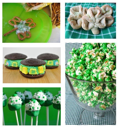 St Patrick's day snacks for my preschoolers