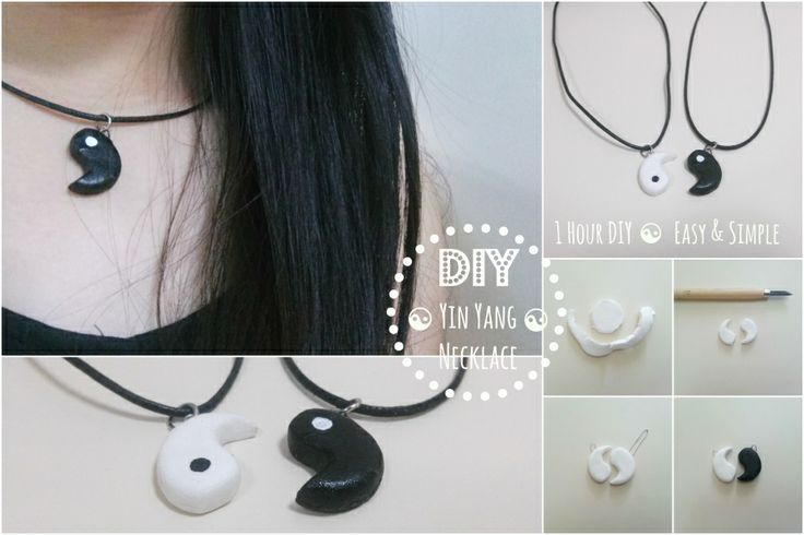 1 hour DIY: Quick and simple Yin Yang necklace set! Great as a gift for a BFF or loved one ☯☯☯