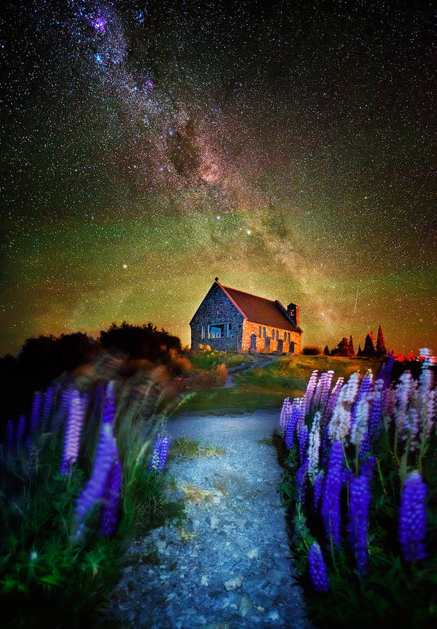 A Fairy Night (Church of Good Shepard, Lake Tepako, NZ) by Goff Kitsawad on 500px