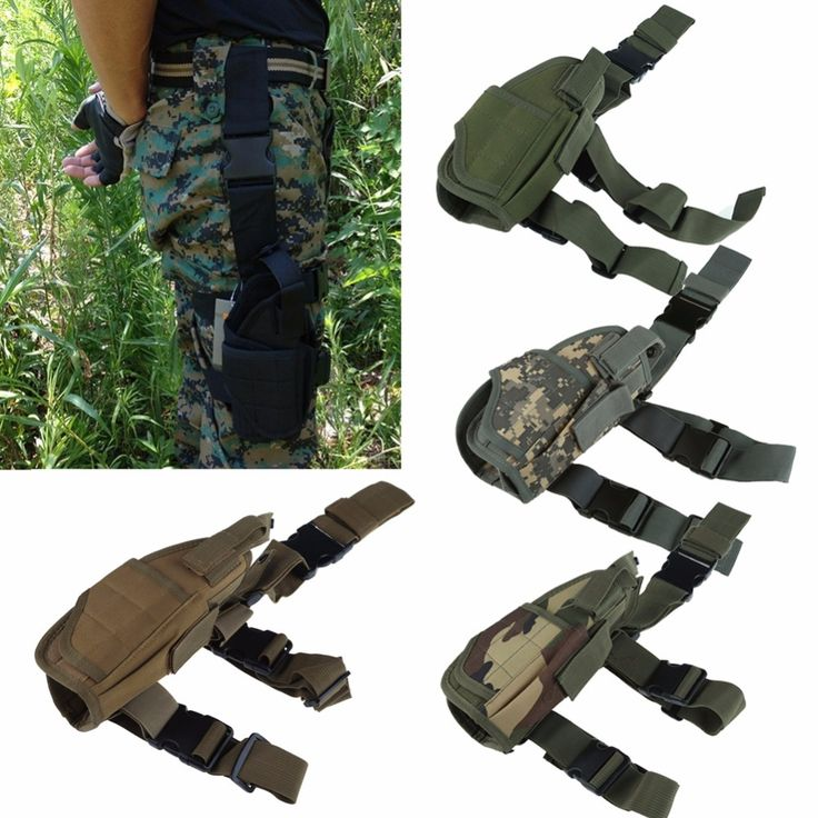 2017 Adjustabl Tactical Pistol Drop Leg Thigh Holster w/ Mag Pouch Right Hand Outdoor Tactical Pouch with Adjustable Magic Strap.