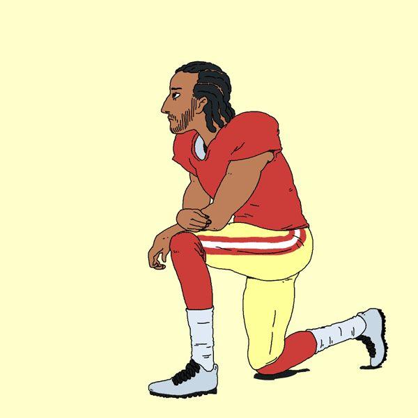 Animated Winking & Kneeling Colin Kaepernick! #TakeAKnee #TakeAStand   Hey Boo!
