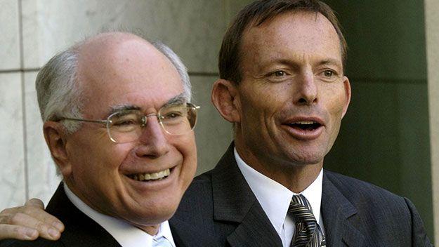 John Howard and Tony Abbott in 2006.