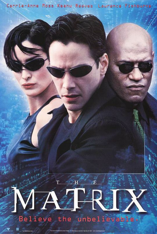 """The Matrix, 1999. My son just saw this trilogy, ( with lots of parental editing) and was in awe that something so good could come from the """"olden days"""" :)"""