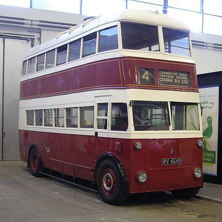 1934 Portsmouth corporation Trolleybus