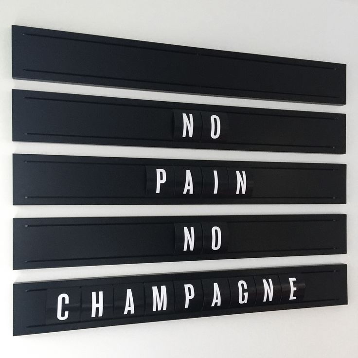 Motivation from Sweaty Betty. No Pain, No Champagne.