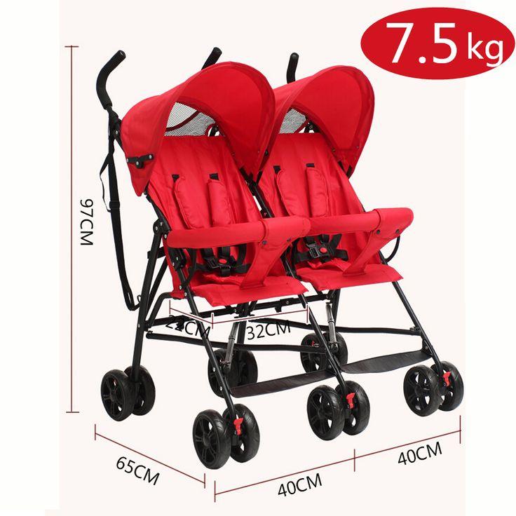 Ideal Cheap Baby Stroller Pram Twins Super Lightweight Double Stroller about kg China Pushchair